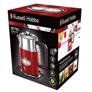 Ấm đun nước siêu tốc Russell Hobbs Retro Ribbon Red